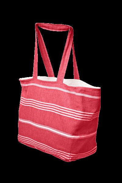 Strandtasche aus Pestemal Stoff Rot