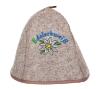 Saunahut Classic Plus 100% Wolle EDELSCHWEISS